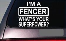 "Fencer Superpower 8"" Sticker *G399* Decal fencing mask suit sword gloves fence"