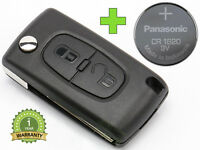 REMOTE CONTROL KEY for CITROEN C1 C2 C3 C4 C5 BERLINGO PICASSO CR1620 BATTERY