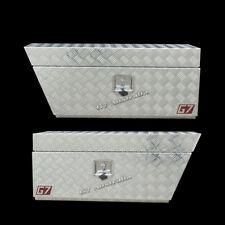 2mm Aluminium Underbody ToolBox 950x260x400mm Checker Plate Trailer ute trailer8