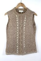 Escada Women's Vest Sweater Wool/Cashmere/Mohair Blend Italy Size EUR 38 US 8 M