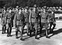 Photo guerre WW2 police secrète allemande et généraux format 10x15 cm n493