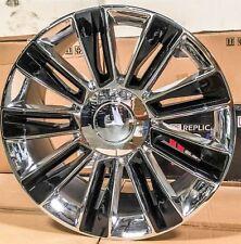 22 Cadillac 2017 Style Rims Chrome Black Wheels Fit Escalade ESV GMC Tahoe LTZ