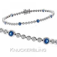 Tennis Sapphire White Gold Fine Bracelets