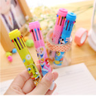 6Pcs Lovely Cute Cartoon 10 colors Ballpoint Pens Office School Stationery Gifts