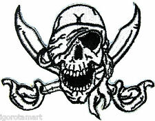 New! Skull One Eye Jack Design Rock Punk Embroidered Iron on Patch Accessory