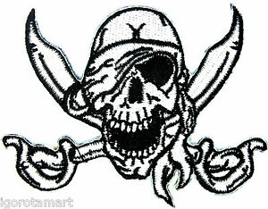 Skull Embroidered Patch Sew On Iron On Patch Clothes Dress Plant Hat Jeans