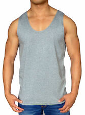 NEW MENS PLAIN SINGLET GREY GYM TANK TOP RUNNING BODYBUILDING MUSCLE SPORT WORK