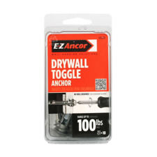 E-Z Ancor Drywall Toggle Anchor 10 pack Holds up to 100 lbs #25220 Chrome