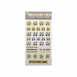Mooneyes Aufkleberset Rubbelbilder 33teilig Kustom Pimp Race Hot Rod V8