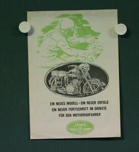 alte orig. Motorrad Prospekt Jawa 125 150 Werbung Datenblatt Tschechoslowakei