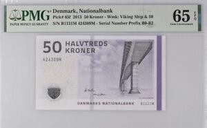 Denmark 50 Kroner 2013 P 65 f GEM UNC PMG 65 EPQ