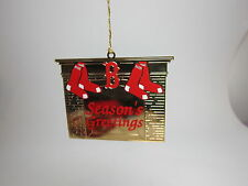 Boston Red Sox Christmas Ornament 1993 1994 Season Ticket Brass Fireplace Socks