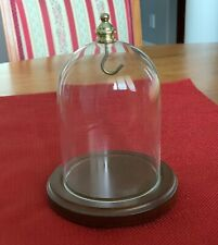 Dome For Pocket Watches Or Ornaments. Walnut Base with Glass and Brass Display
