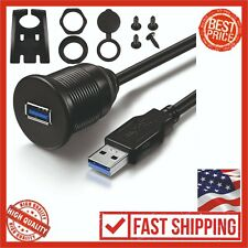 USB 3.0 Male To Female AUX Flush Mount Car Extension Cable For Truck Boat 3 Feet