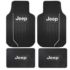 New Elite Style All Weather Heavy Duty Rubber Front and Back Floor Mats for Jeep