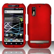 Hard Rubberized Case for Motorola Photon 4G MB855 - Red
