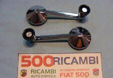 FIAT 500 F/L/R COPPIA MANIGLIE ALZAVETRO IN ALLUMINIO TIPO 500F ALZA VETRO