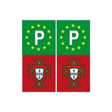 Portugal FPF F autocollant sticker plaque rouge vert europe P droits