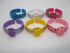 72Pcs Solid Color Open Ended Bangles Bracelets for Kids