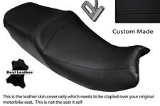 Negro Stitch personalizado se adapta a Triumph Trophy 900 1200 96-03 Doble Cuero Funda De Asiento