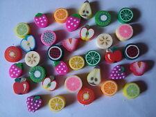 25 clay/fimo granos... trozos de fruta de 10 mm