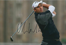 Oliver WILSON SIGNED AUTOGRAPH Golf 12x8 Photo AFTAL COA MANSFIELD England
