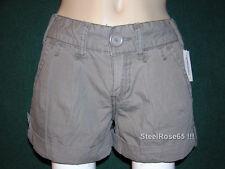 NEW Aeropostale Junior Girls Birch Brown Cotton Cargo Shorts 7 / 8