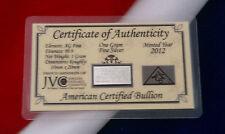 x25 ACB Fine 99.9 Silver 1 Gram Ag Bullion INGOT Bars WITH COA $