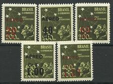BRAZIL. 1944. Air Surcharges Set. SG: 693/97. Mint Never Hinged.