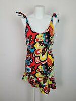 Rip Curl Bright Colourful Rara Summer Beach Dress Women's Size Ruffle Adj Straps