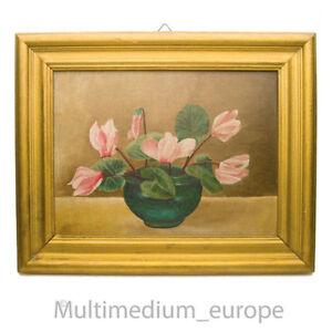 Ölbild Ölgemälde Blumen Holz Rahmen flowers oil picture wooden frame 🌺🌺🌺🌺🌺