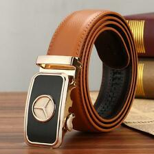 New Mens Leather Belt Waistband Strap With Stylish Automatic Buckle Benz Casual