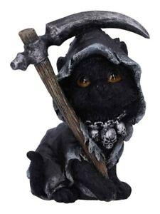 Nemesis Ornament Amara Grim Reaper Cat Figurine Black 9x12cm
