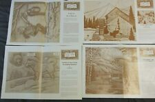 4 Vintage Doodle Pages The Alaskan Malamute Winter Fall Secluded Spot Craftool
