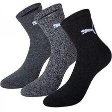 Puma Damen Herren Socken Short Crew Socks Basic Tennissocken 3er Pack Grau