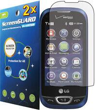 2x Clear LCD Screen Protector Film LG Extravert II 2 VN280 Freedom II 2 UN280