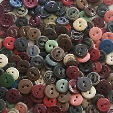 Vintage Paper Buttons, Primitive Crafts, Reenactment Sewing 9/16, Antique