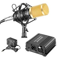 Neewer NW-800 Professional Microphone & Phantom Power Kit with Shock Mount
