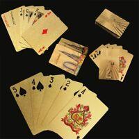 jeux de table le jeu au poker les cartes à jouer imperméables à l'eau plaqué or