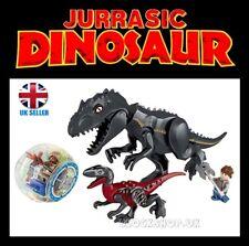 XL INDORAPTOR x4 BATTLE SET - JURASSIC DINOSAUR - kingdom park world - fits lego
