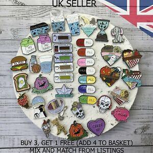 UK SELLER Enamel Pin Badge Pins Chill Pill Food Vegan Designed in the UK