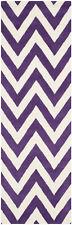 Safavieh Cambridge PURPLE / IVORY Wool Runner 2' 6 x 12' - CAM139K-212