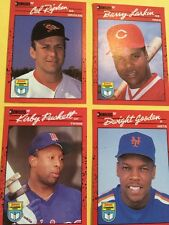 Cal Ripken, Barry Larkin, Kirby Puckett, Dwight Gooden Donruss Baseball Cards
