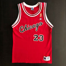 Vtg Michael Jordan Chicago Bulls NBA Champion rookie gold label jersey - sz 40