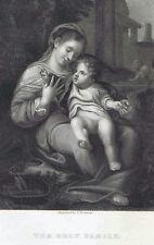 The Holy Family by Antonio Correggio - 1832 Engraved Print Plus BONUS