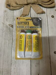 Hunters Specialties Woodland Camo Creme Tube Makeup Kit 3 Tubes *00268*
