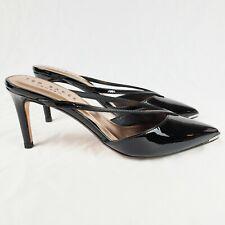 Ted Baker London Lorenzp Black Patent Mule Black Womens Size 7.5 NWOB