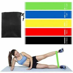 5Pcs/set Yoga Fitness Bands with 5 Different Resistance Levels Home Gym Exercise