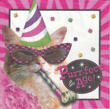 2 Lunch Papier Servietten Napkins (301)   Katzen  Party Katze
