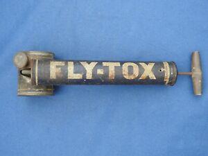 Ancien Pulvérisateur Pompe à Insecticide Fly-Tox N°10 Mouche Moustique années 50